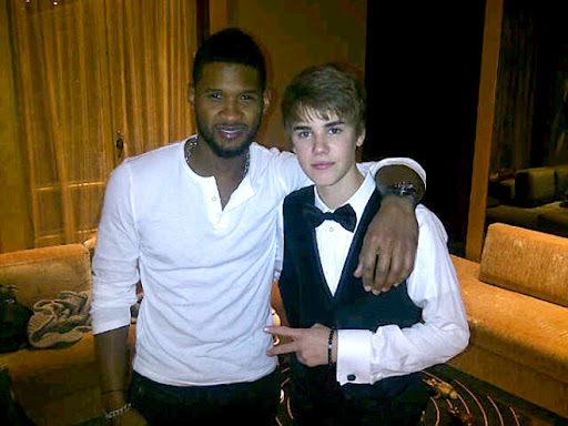 justin bieber usher Party posse Justin Biebers Party Pals with Kim Kardashian