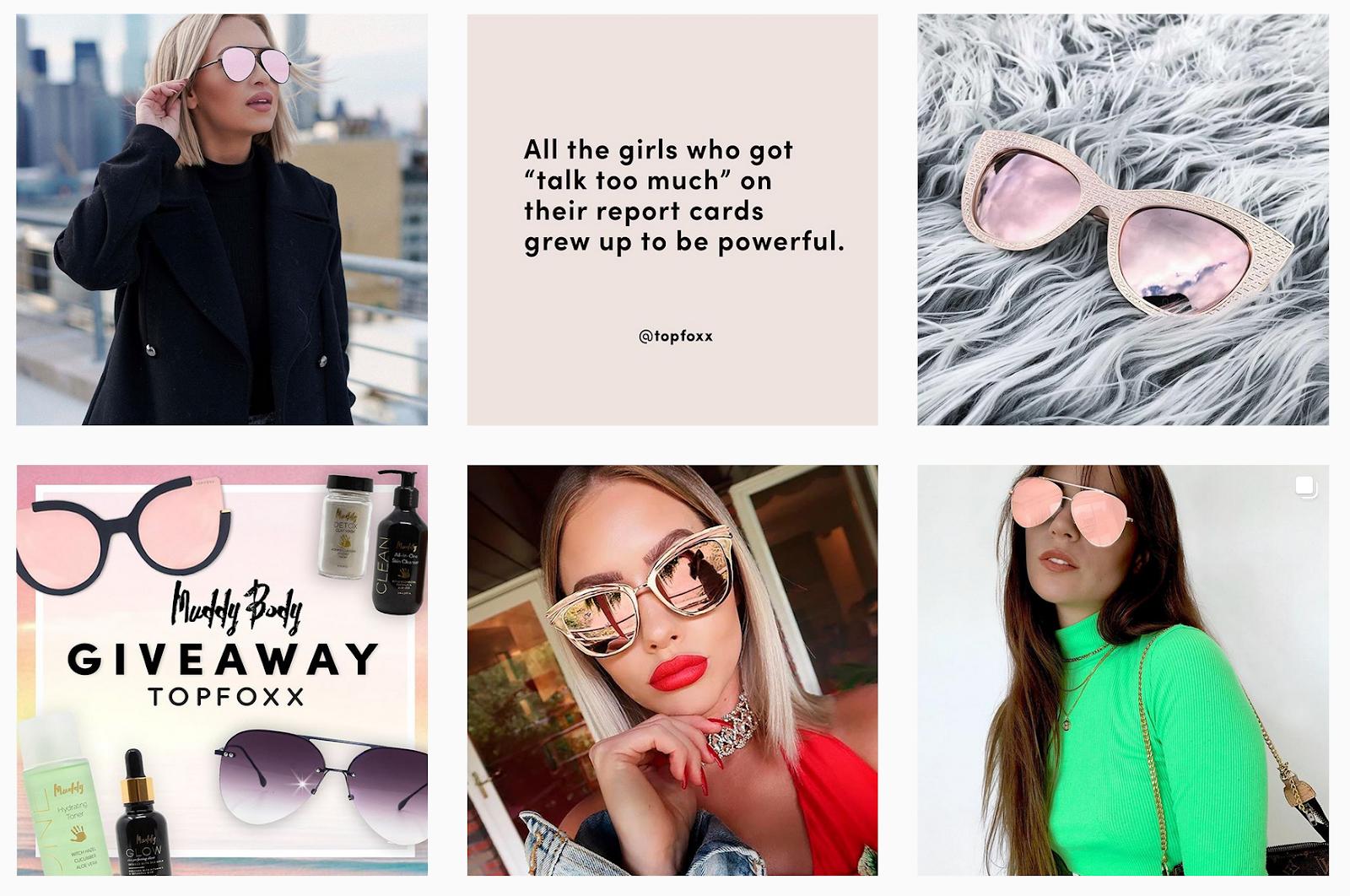 TopFoxx - Image Gallery Promoting Latest Eyewear