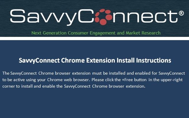 Savvyconnect chrome extension for Savvyconnect