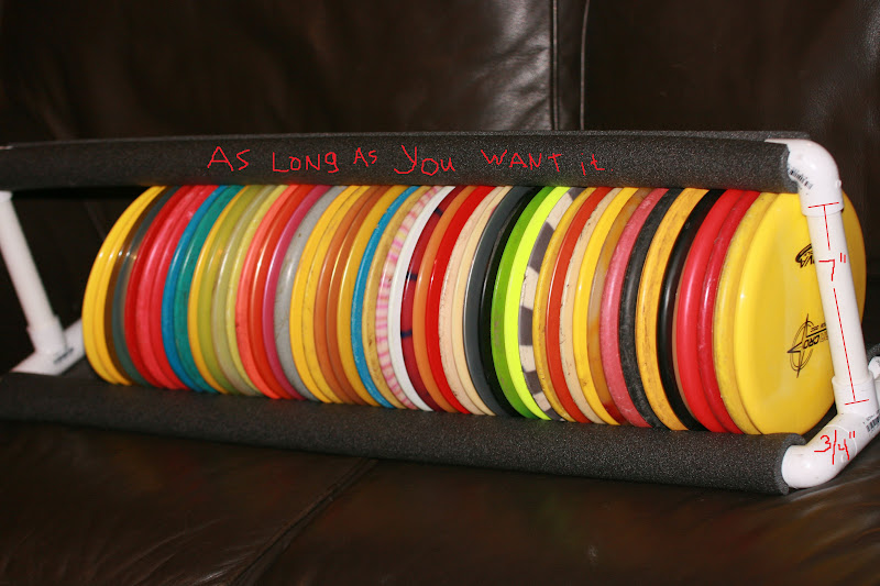 pvc disc organizer storage rack archive disc golf course review