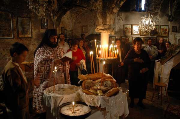 The Greek Orthodox Eucharistic Bread or Communion bread