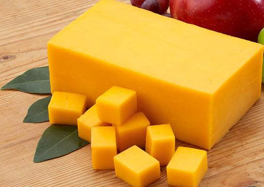 پنیر چدار زردرنگ انگلیسی