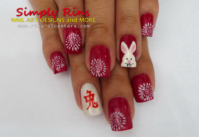 Chinese New Year nail art design