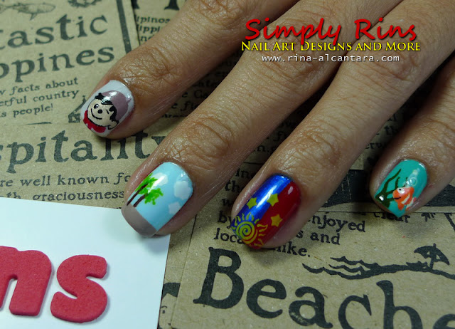 Nail art proud of the philippines simply rins i accompanied my entry with this explanation my inspiration for this nail art prinsesfo Images