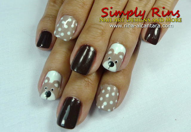 Teddy Bear Nail Design