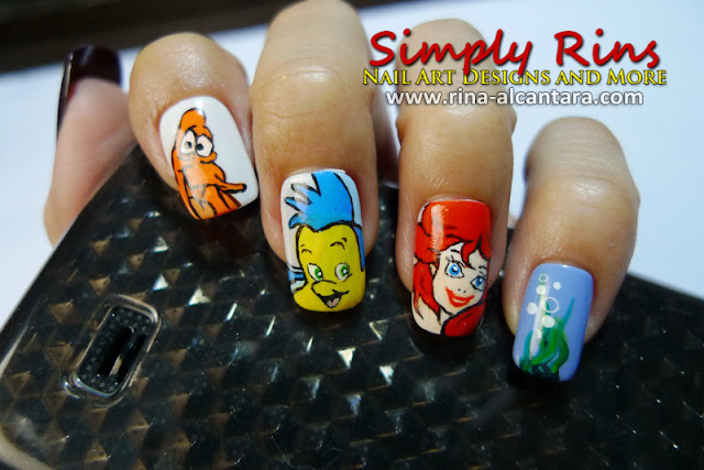 Nail Art Little Mermaid 03