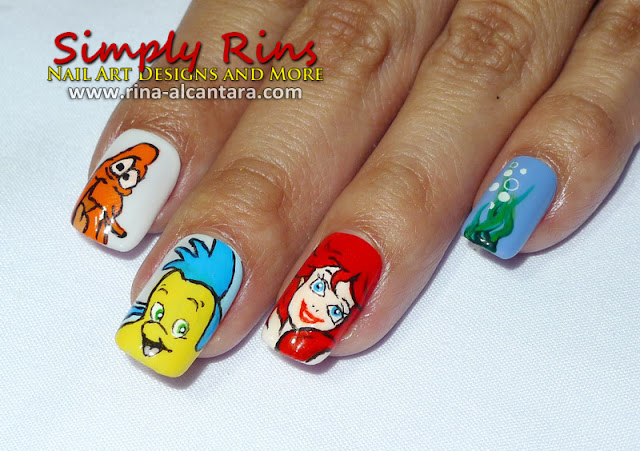 Nail Art Little Mermaid 02