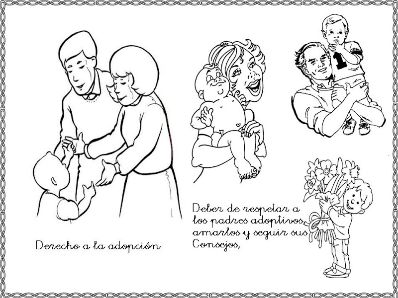 Coloring Pages Children S Rights : Adoption rights free coloring pages
