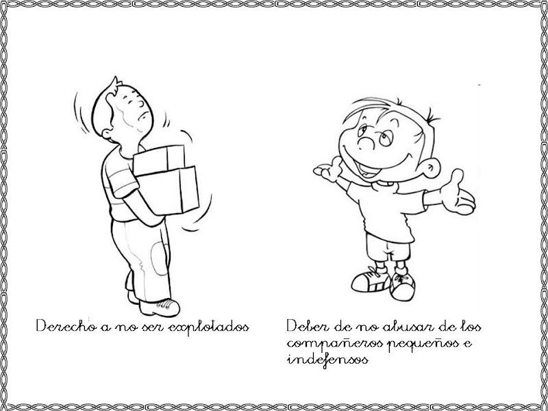 Pinto Dibujos: Derecho A No Ser Explotados Para Colorear