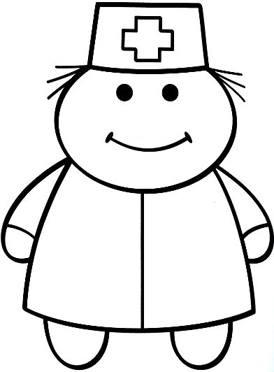 male nurse coloring pages - photo#2