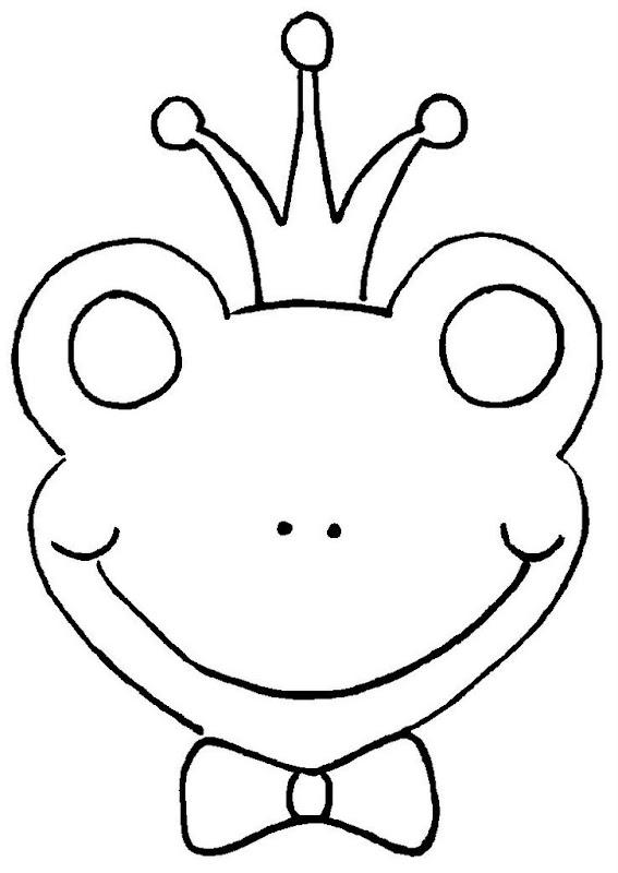 Pinto Dibujos: Máscara de rey sapo para colorear
