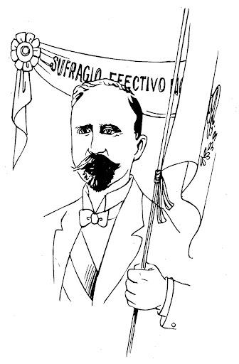 Fco I Madero – sufragio efectivo no reelección para colorear