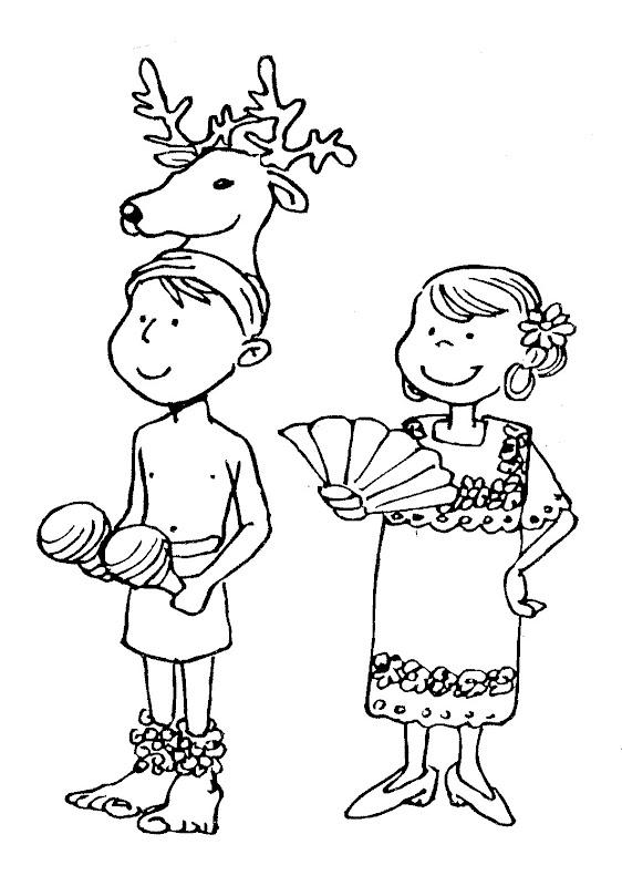 Dibujos para colorear de los bailes de la region selva del peru ...