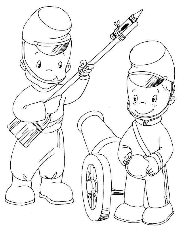 Free Soldier Coloring Pages