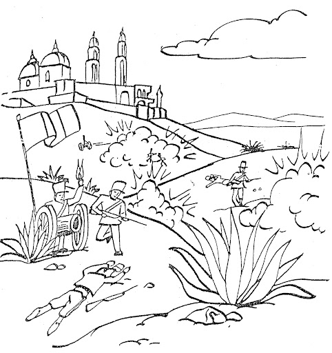 5 De Mayo Battle Free Coloring Pages Coloring Pages 5 De Mayo Coloring Pages
