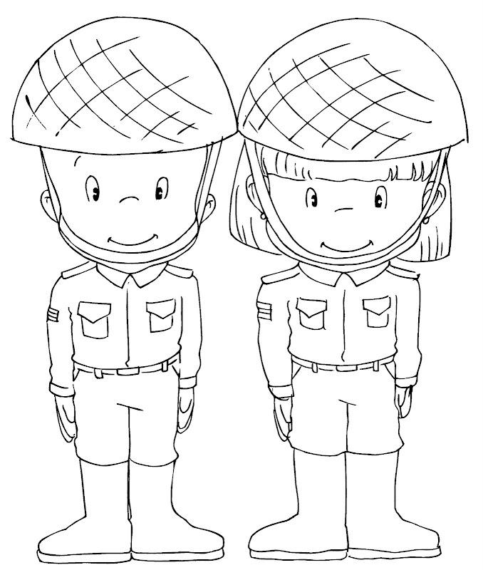 Vestuario para el día del soldado para colorear