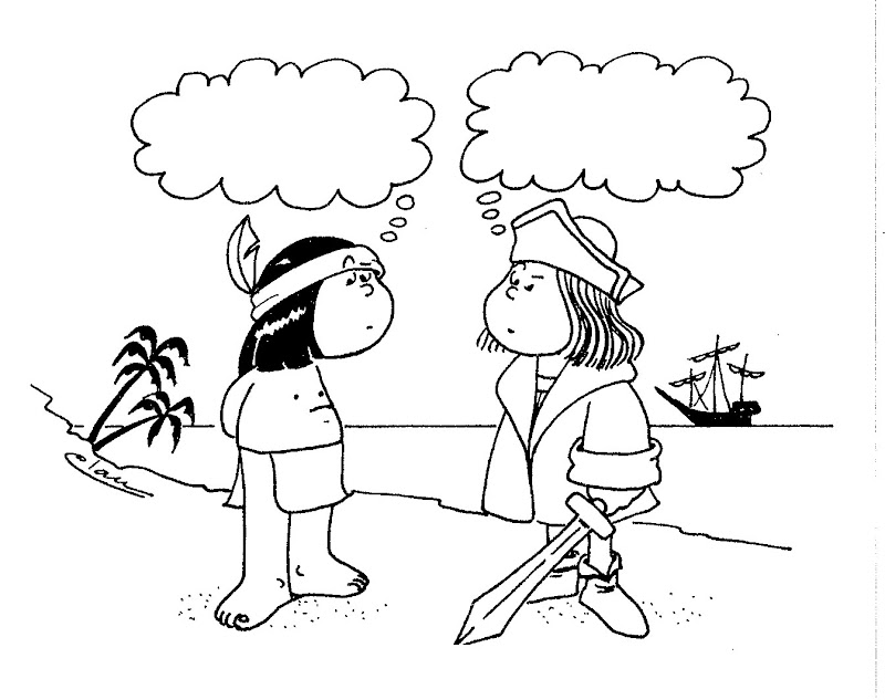 Christopher Columbus cartoon - free coloring pages