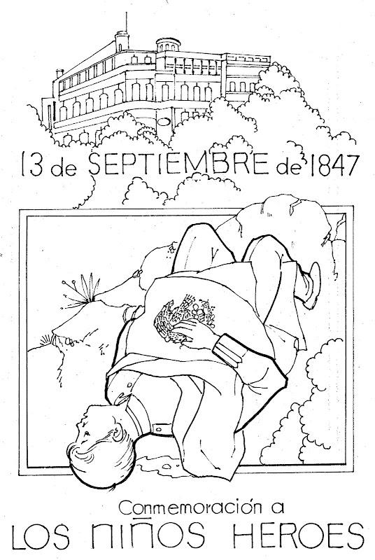 Pinto Dibujos: Juan Escutia muerto en batalla de Chapultepec para ...