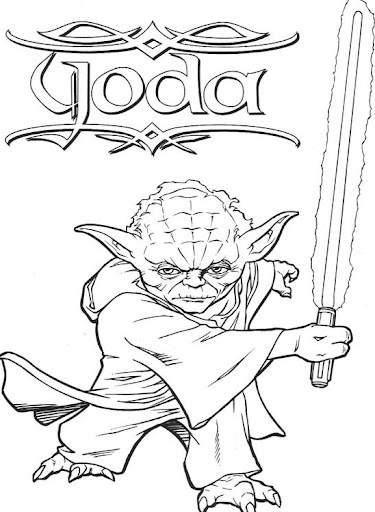 Yoda free coloring pages   Coloring Pages