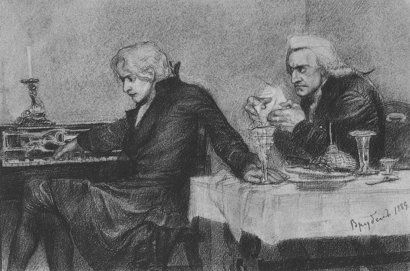 сальри подсыпает яд моцарту