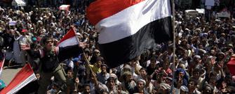 Manifestación en Yemen