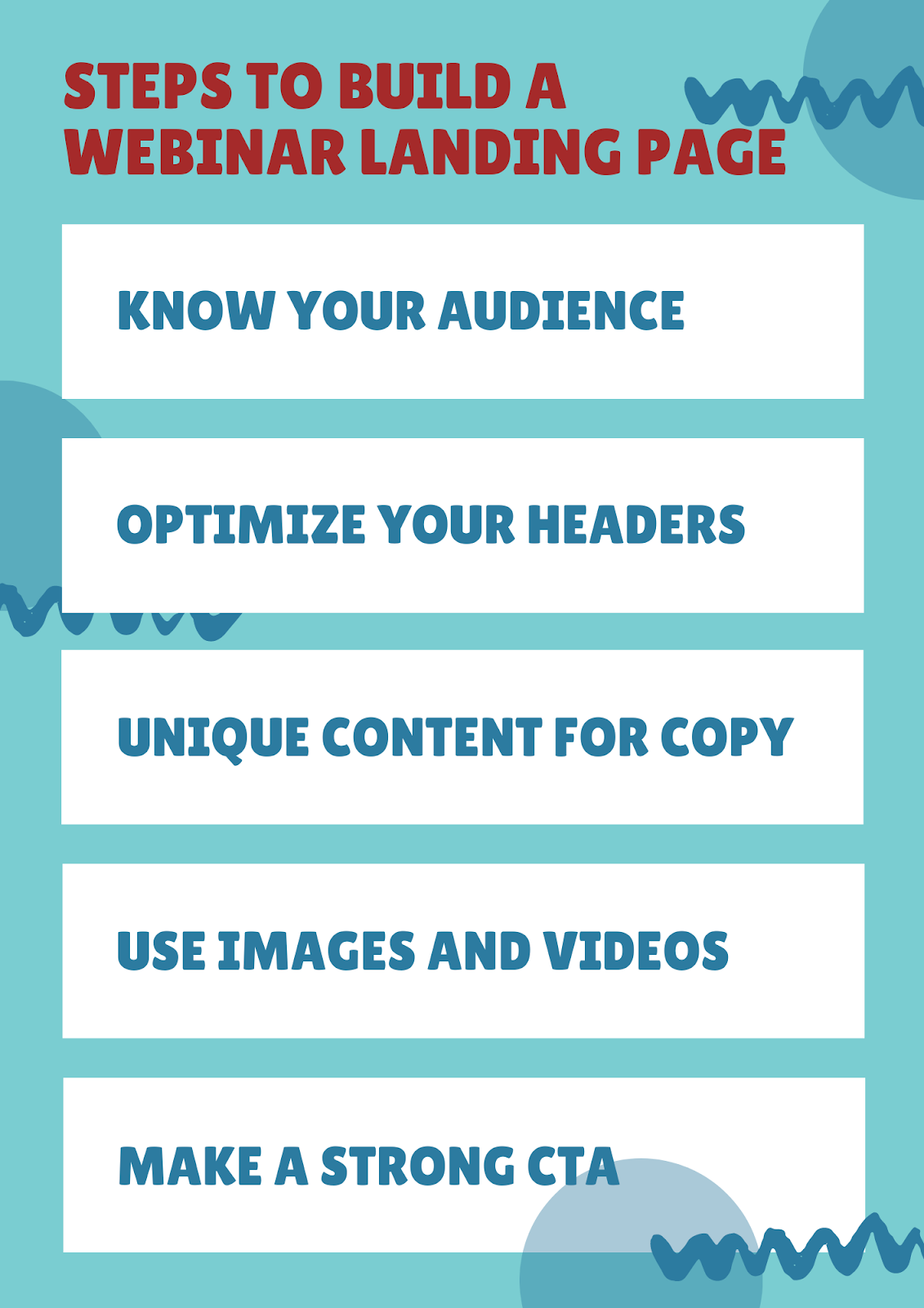 Steps to Build a Webinar Landing Page