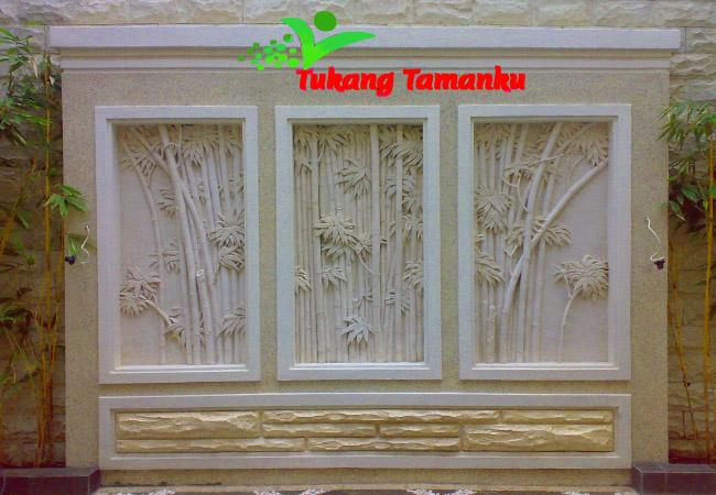 ornamen dinding dan relief 3D