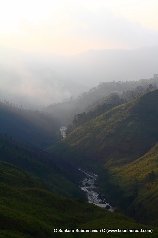 An evening shot of the valley at Thalawakele