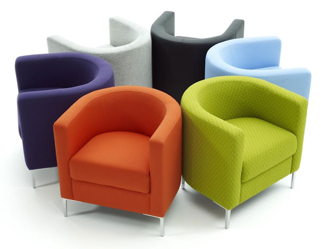 modern colorfull waiting room chairs