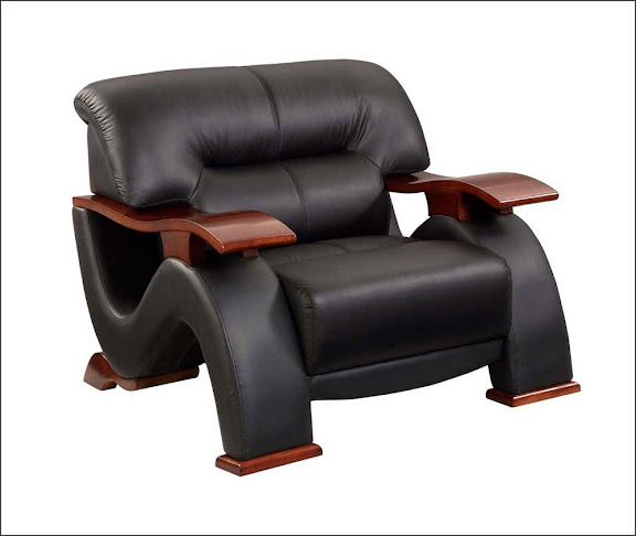 lounge black leather office chair