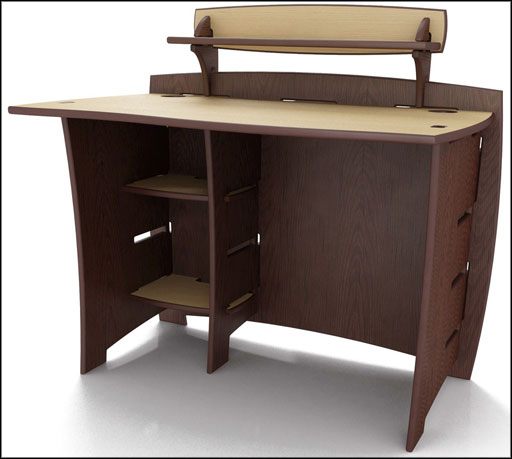 wooden workstation writing desk unique