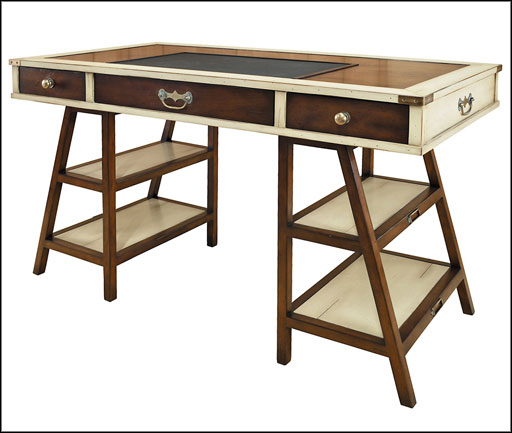 antique writing desk with three drawers