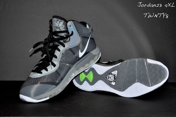 Nike LeBron 8 V2 Cool Grey New Photos with 3M Reflective Material