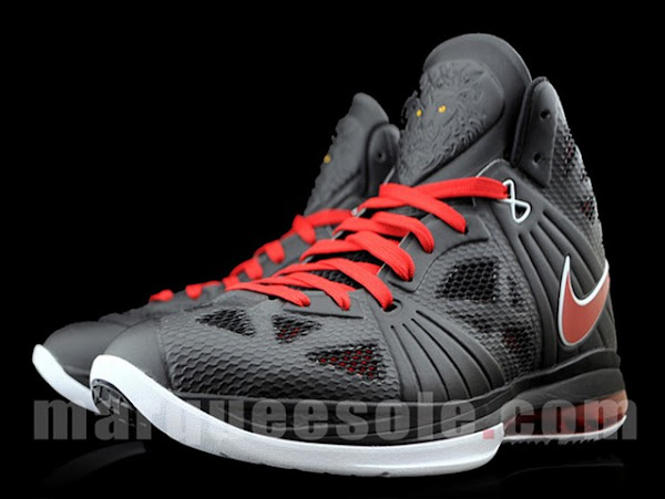 First Look at Nike LeBron 8 P.S. Black Varsity Red White