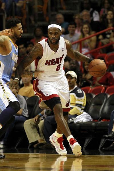 LBJ Debuts New Nike LeBron 8 V2 WhiteRedYellow Miami PE