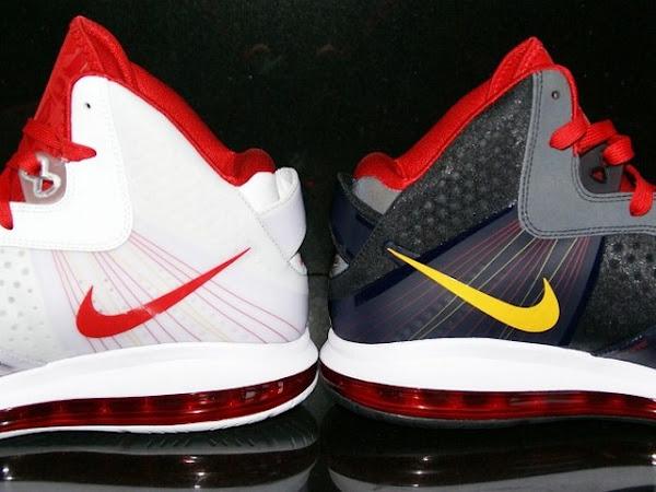 Nike Air Max LeBron 8 V2 Miami Heat 8220Home8221 and 8220Away8221 PEs