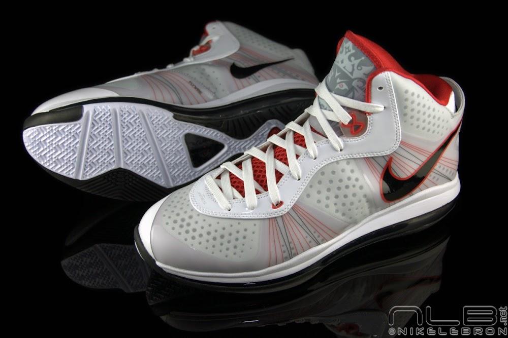 8f97ece837a3 ... The Showcase Nike LeBron 8 V2 WhiteBlackSport Red ...