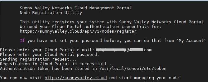Registering to the Cloud Central Management Portal