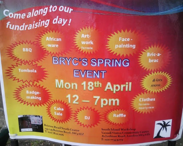 Brixton Road Youth Centre poster on Vassall View Vassallview.com