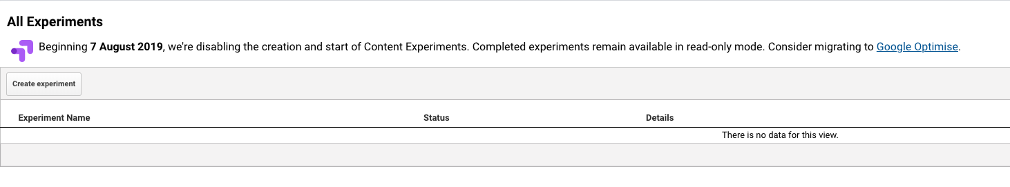Running Experiments section