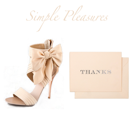 spthanks {simple pleasures: a pretty shoe & thanks to you}
