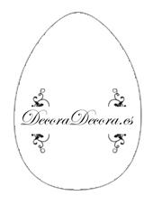 Huevos de Pascua para Imprimir y Recortar