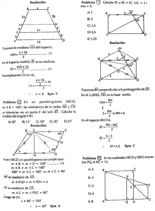 Cuadrilateros - Ejercicios Resueltos - Geometría « Blog del Profe Alex