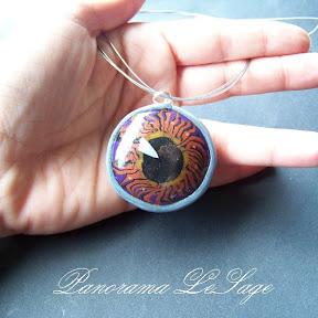 wisior z masy polimerowej fimo naszyjnik biżuteria  polymer clay Panorama LeSage