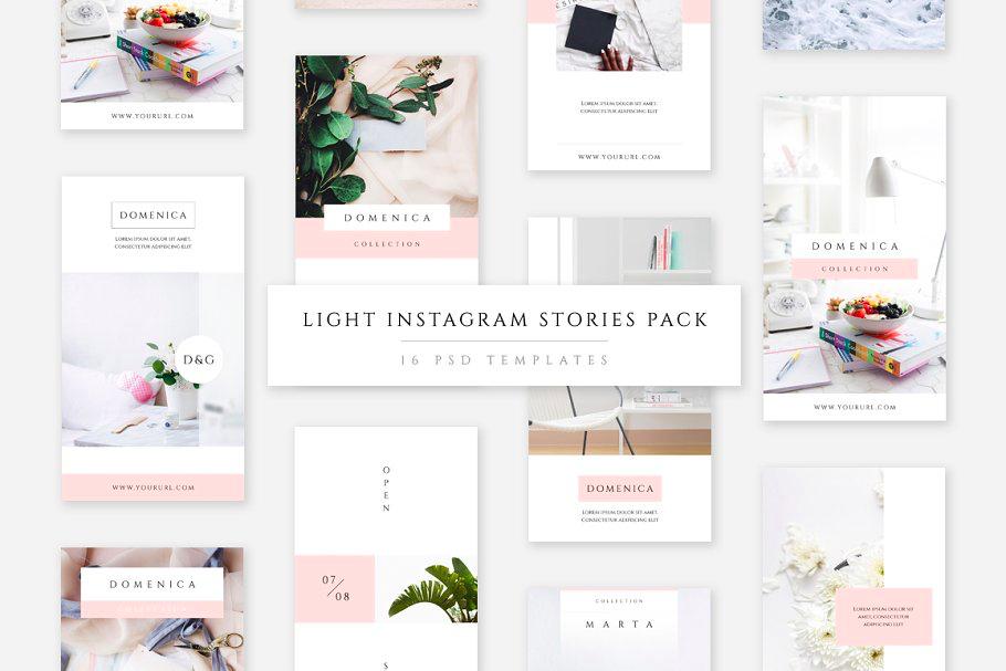 Light Instagram Stories Templates