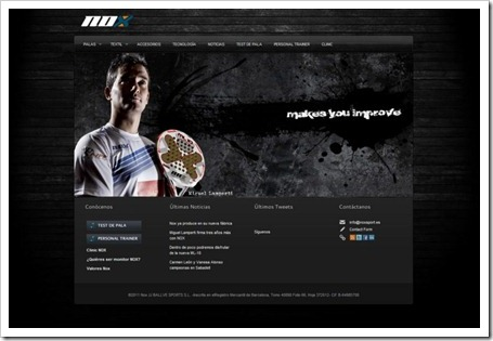nueva web de NOX padel
