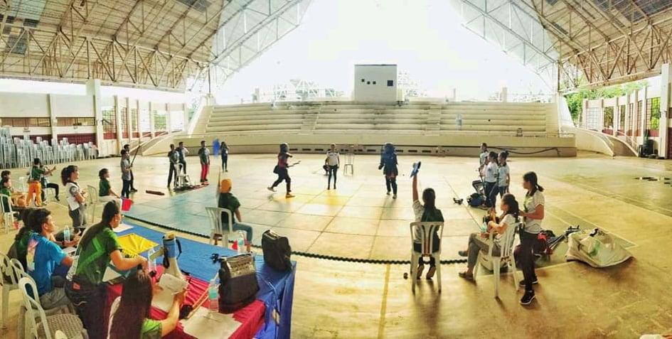 Arnis Labanan with BPED students as Officiating Officials and Players