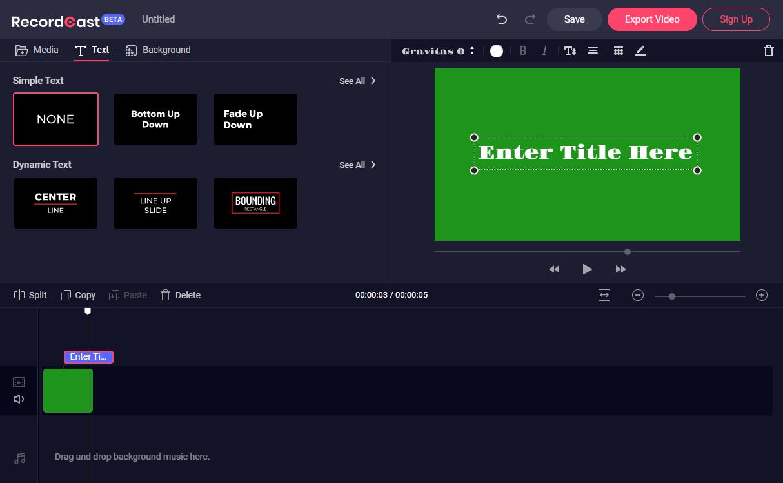 RecordCast - Video Editor