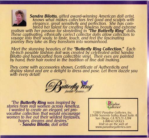 """Butterfly Ring & other Dolls by Sandra Bilotto (16,5"""") Bilottotekst"""
