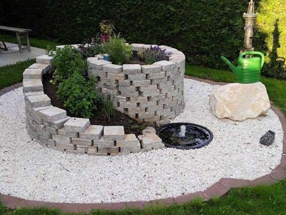 skalka s fontánkou